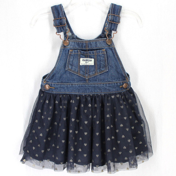 OshKosh B'gosh Other - Oshkosh BGosh Bib Overall Jumper Dress Blue Tulle
